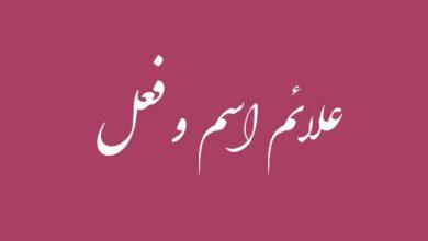 علائم اسم و فعل عربی