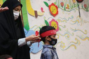 برپایی سفره حضرت رقیه در مهدکودک و دبستان قرآنی گلهای مهدوی شیراز با حضور مبلغین