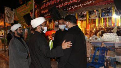 حضور روحانیون در موکب بین الحرمین شیراز