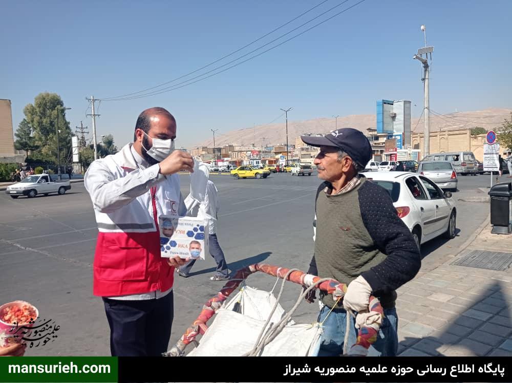 توزیع ماسک قرارگاه عمار