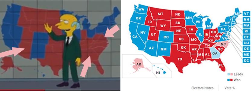 پیشبینی انتخابات آمریکا توسط سیمپسونها