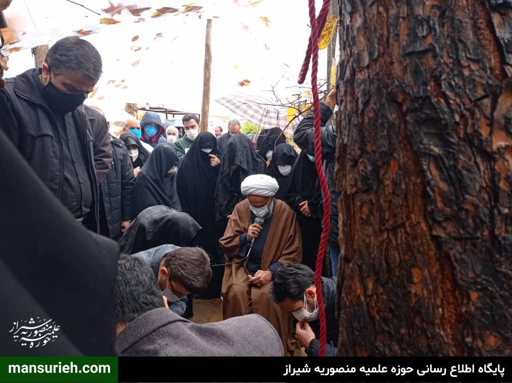 تصاویر| مراسم خاکسپاری صبیه مرحوم حضرت آیت الله محمدرضا حدائق