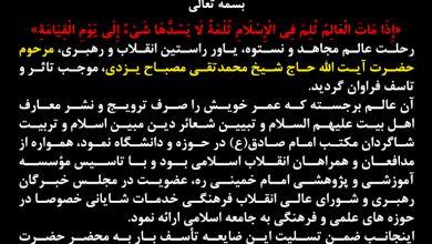 شیخ علیرضا حدائق ، ارتحال مصباح یزدی