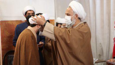 آیین عمامه گذاری جمعی از طلاب مدرسه منصوریه شیراز