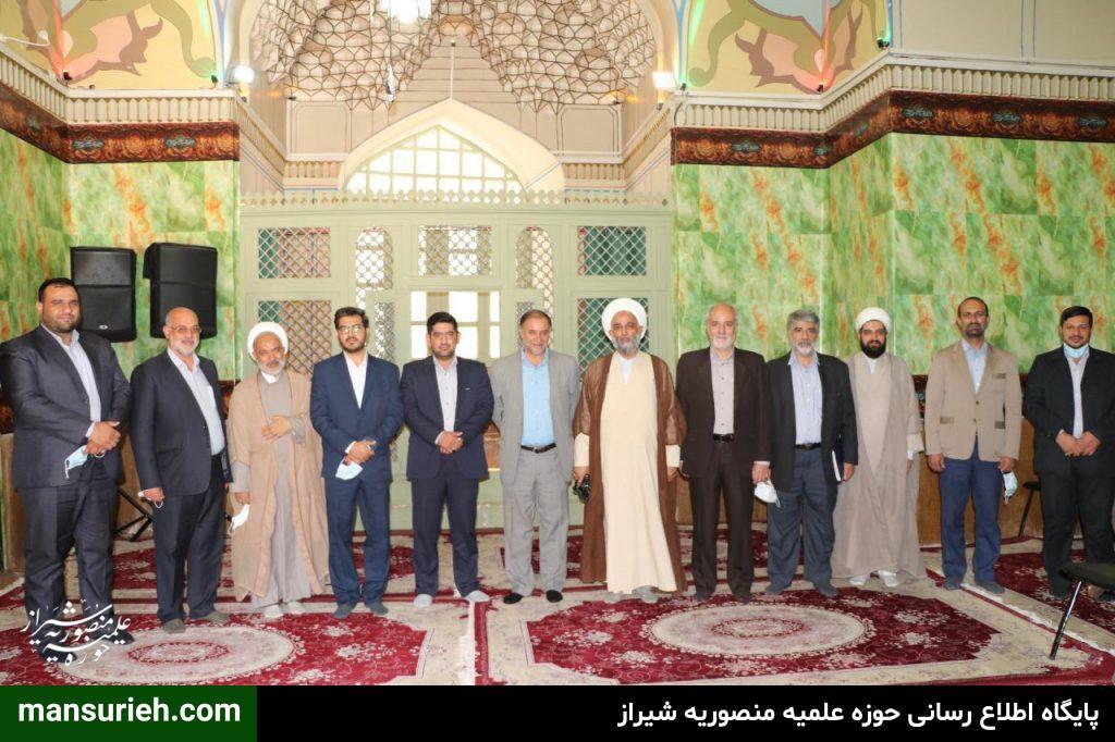 منتخبین شورا شهر شیراز با شیخ علیرضا حدائق